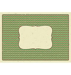 Vintage frame printed on a cardboard vector image