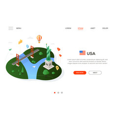 visit the usa - modern colorful isometric web vector image