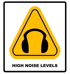 wear earmuffs or ear plugs vector image