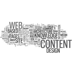 web design be an architect text word cloud concept vector image