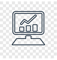 Website concept linear icon isolated on vector