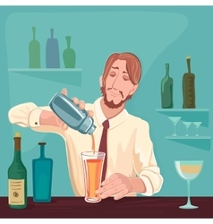 barman for cocktail party vector image vector image