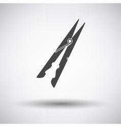 Cloth peg icon vector image