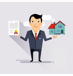 House Insurance Contract vector image