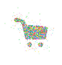 abstract shopping basket vector image
