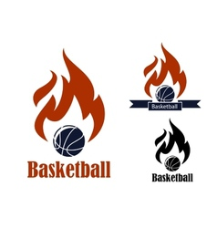 Basketball sport emblems vector image vector image
