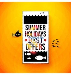 Bright summer holidays poster Typography design vector image