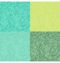 Collection of abstract doodle wavy seamless vector image vector image