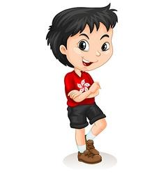 Hong Kong boy standing vector image vector image