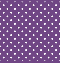 Tile pattern with white polka dots on dark violet vector