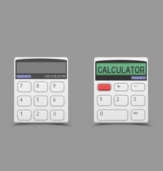 white calculator icon vector image vector image