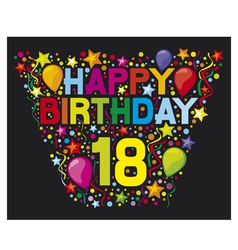 18th Birthday Card vector image vector image