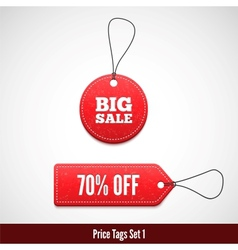 3d price tags set one vector