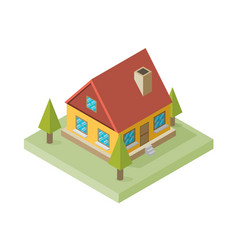a of a large new isometric home isometric home vector image