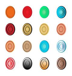 abstract target and egg logo set vector image