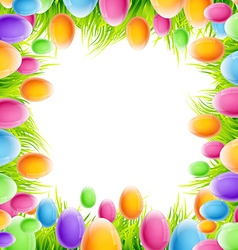 colorful eggs design vector image vector image