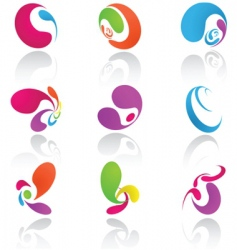 design elements colored vector image vector image