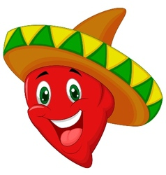 Habanero pepper cartoon vector image
