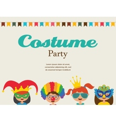invitation for costume party Kids wearing vector image