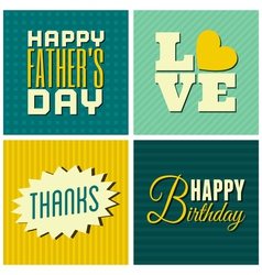 mixed cards set vector image vector image