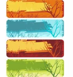 nature banner set vector image