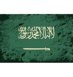 Saudi arabian flag grunge background vector