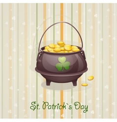 St Patricks Day card to the casserole with the vector image vector image