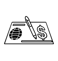 bank check paper isolated icon vector image