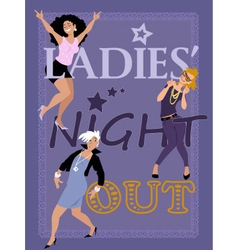 Ladies Night Out vector image vector image