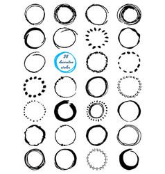 uniqiue handdrawn shapes of cirles for logo design vector image