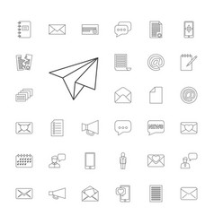 33 message icons vector