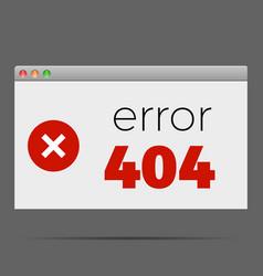 404 error window alert warning vector image