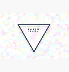 abstract white triangles background with soft vector image
