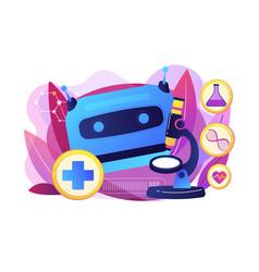 Ai use in healthcare concept vector