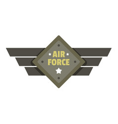 Air force icon logo flat style vector