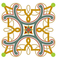 ancient design pattern colorful ornamental vector image