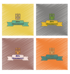 Assembly flat shading style icon ukraine vector