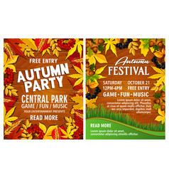 Autumn harvest festival poster on wood backgorund vector