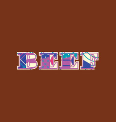 Beef concept word art vector