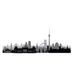 berlin cityscape with landmarks city urban vector image