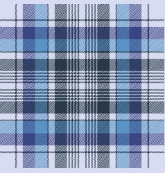 Blue tartan check plaid fabric seamless pattern vector