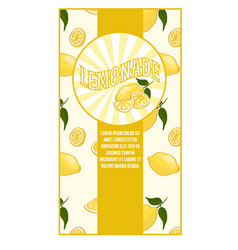 bright flat lemonade poster vector image
