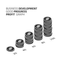 Business development infographic vector image