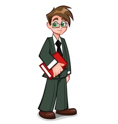 businessman with book vector image