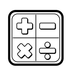 Calculator math application icon vector