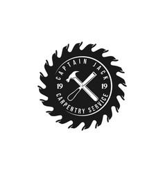 Carpentry service logo logo design vector