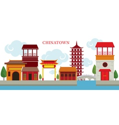 Chinatown Building vector