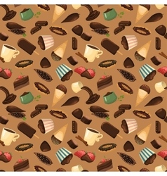 Chocolate sweets background vector