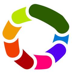 Circular generic symbol icon - rotated vector