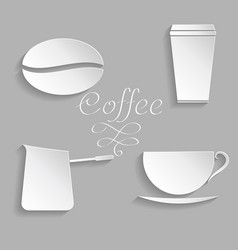 Coffee background with floral vector